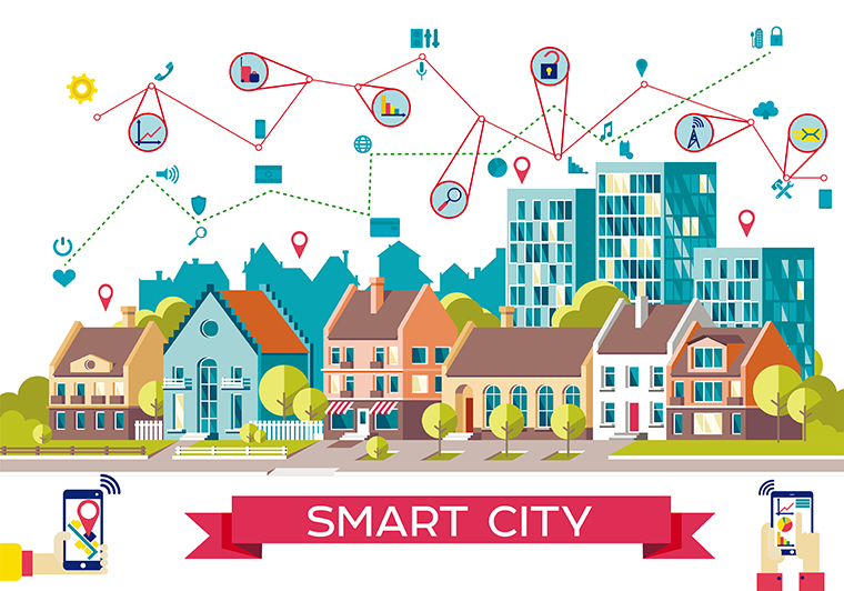 illustration smart city