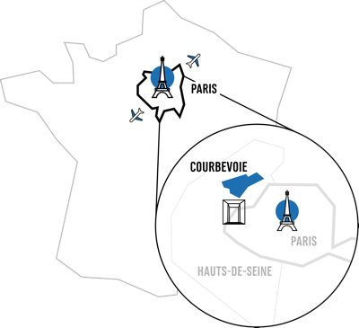 carte courbevoie