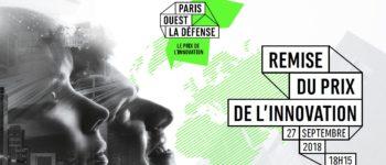 Remise du Prix de l'Innovation Paris Ouest La Défense : réservez votre soirée