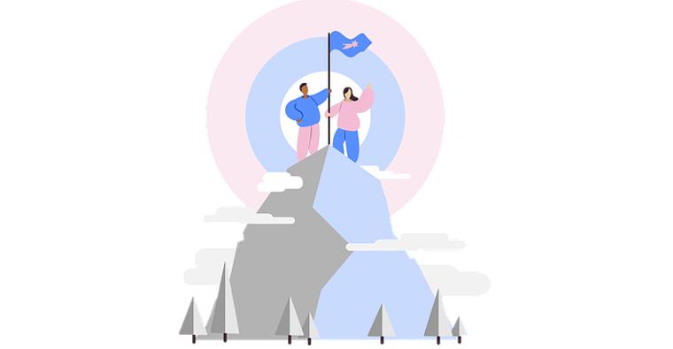 montagne drapeau pastel