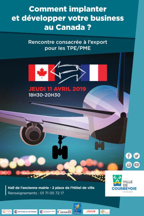 affiche-Rencontre-Export-Canada-Courbevoie