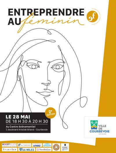 AFFICHE-ENTREPRENDRE-AU-FEMININ-COURBEVOIE