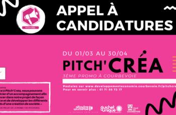 Dispositif Pitch'Créa : Appel à candidatures
