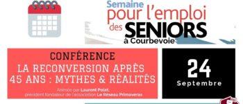 Semaine pour l'Emploi des seniors à Courbevoie le 24 septembre