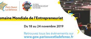 Semaine mondiale de l'Entrepreneuriat : le territoire Paris Ouest La Défense mobilisé !