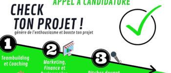Check ton projet ! - Appel à candidature